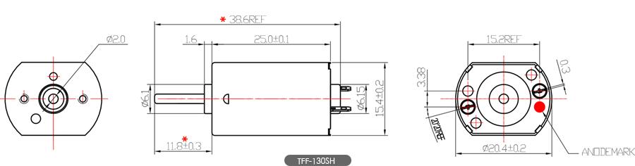 130微型电机尺寸图