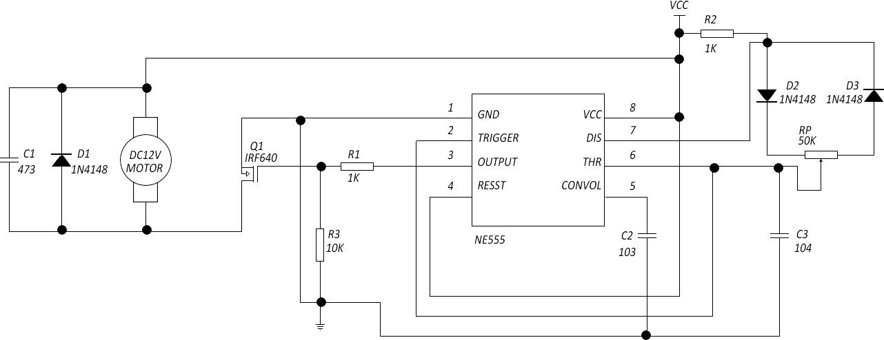 12v微型直流电机调速电路图
